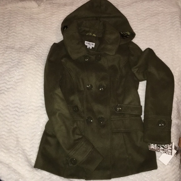 7afb05faad7 JUNIORS OLIVE GREEN PEACOAT. NWT. Celebrity Pink